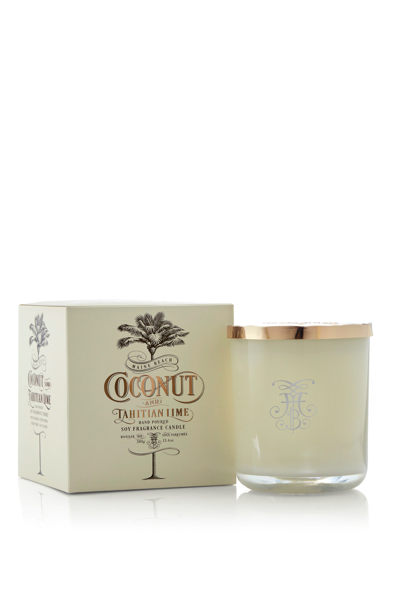Lord Howe Island Organic Coconut And Tahitian Lime Fragrance Candle